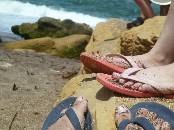 areia da playa roja difiiicil de tirar do pe