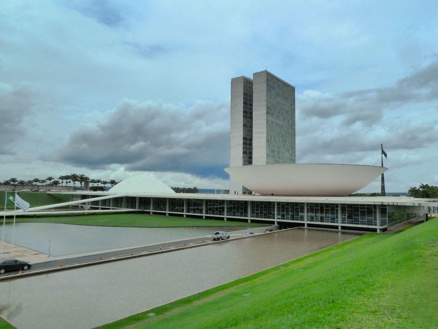 congresso nacional em dia nublado