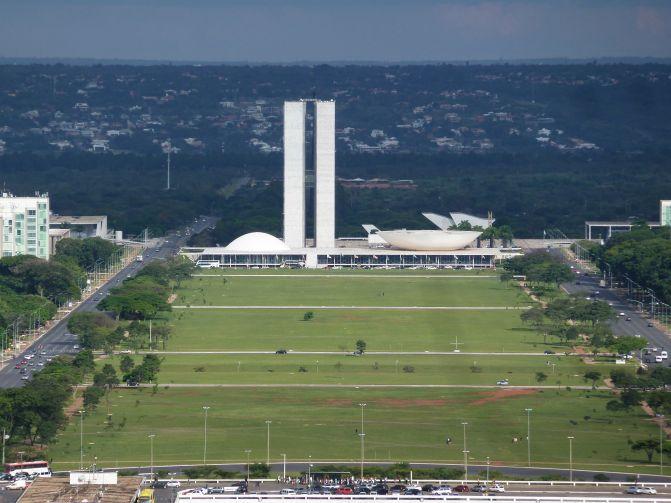 congresso nacional visto da torre de tv