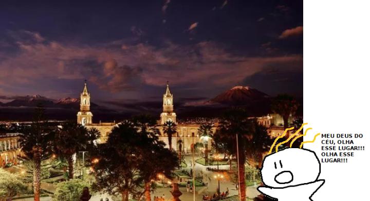 Onde ficar em Arequipa no Peru e vista da Catedral na Plaza de Armas