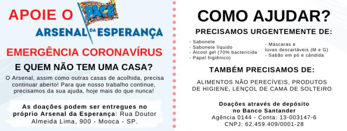 como ajudar moradores de rua coronavirus